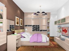 欧式田园风格卧室家具装修效果图