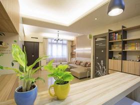 120平原木公寓 改造简约休闲榻榻米