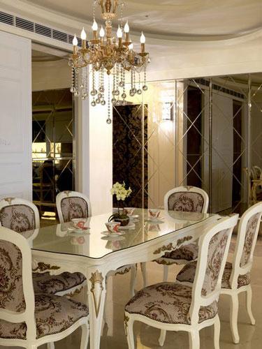新古典风格别墅奢华140平米以上电视背景墙装修效果图