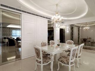 新古典风格别墅奢华140平米以上电视背景墙设计图纸