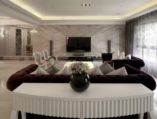 264平古典奢华 大理石背景电视墙面设计
