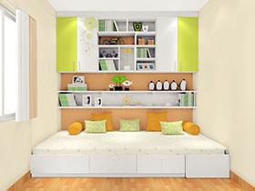 书房兼客卧榻榻米装修效果图