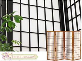 日式格子屏風 欄間柵格 隔斷格子門 折疊門