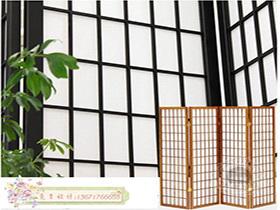 日式格子屏风 栏间栅格 隔断格子门 折叠门