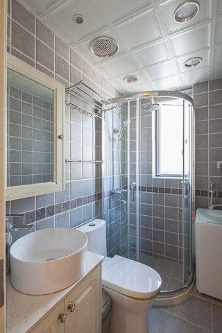 美式风格两室一厅小清新80平米设计图