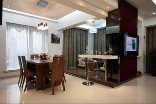 简约风格时尚120平米餐厅婚房家装图片