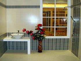 蘇格蘭格子衛生間小地磚 內墻瓷磚地板