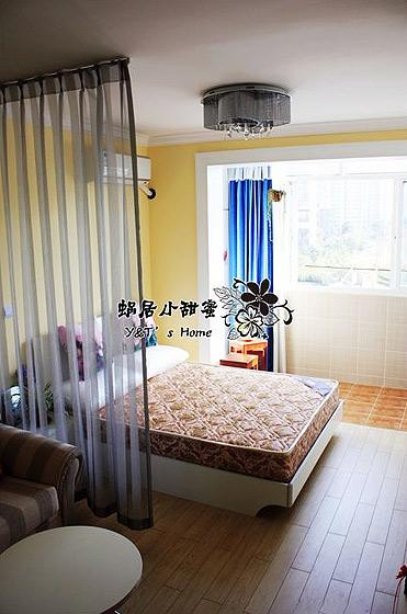 混搭风格一室一厅卧室婚房家装图片