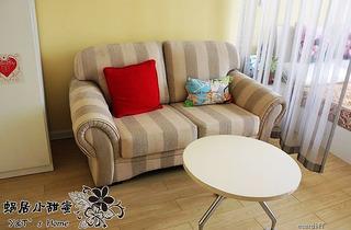 混搭风格一室一厅小客厅婚房平面图