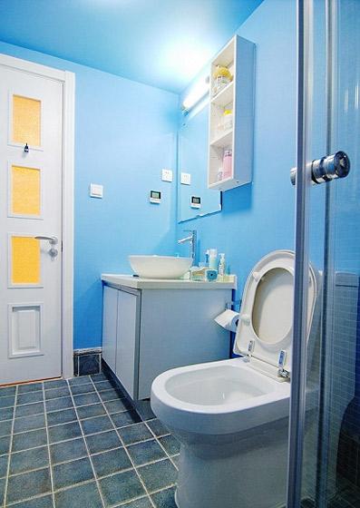 小户型小清新40平米卫生间装修效果图