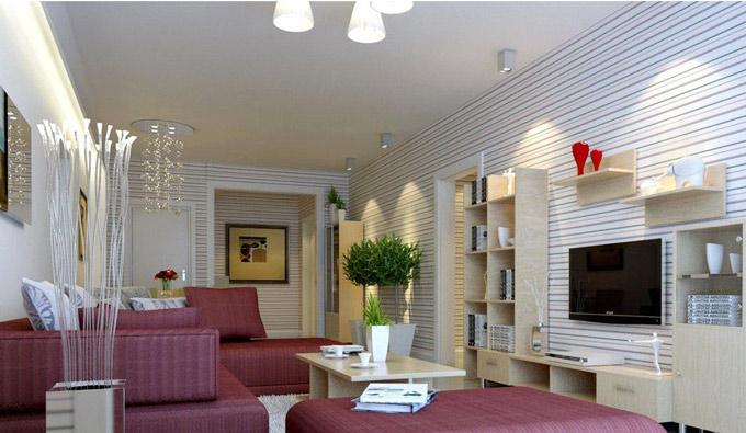 13款时尚明亮 客厅电视背景墙装修效果图