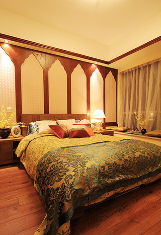 东南亚风格二居室艺术70平米卧室装潢