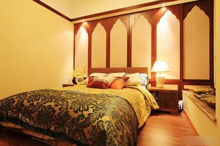 东南亚风格二居室艺术70平米效果图