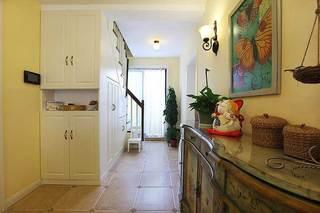 美式风格复式温馨黄色100平米玄关玄关柜效果图