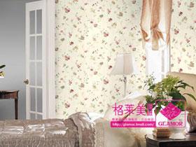 田园风格客厅卧室墙纸壁纸