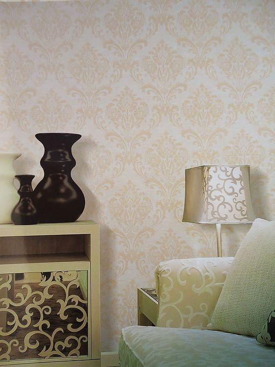 欧式印花植绒客厅卧室壁纸