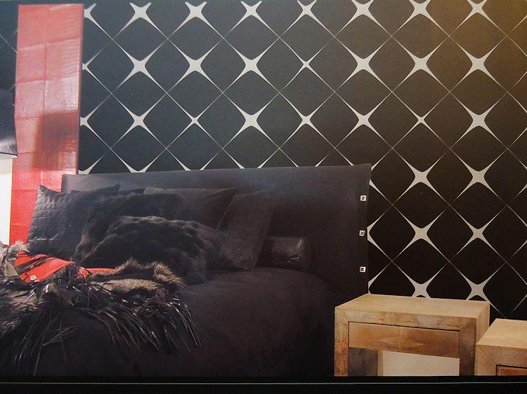 简约现代几何图案客厅卧室壁纸