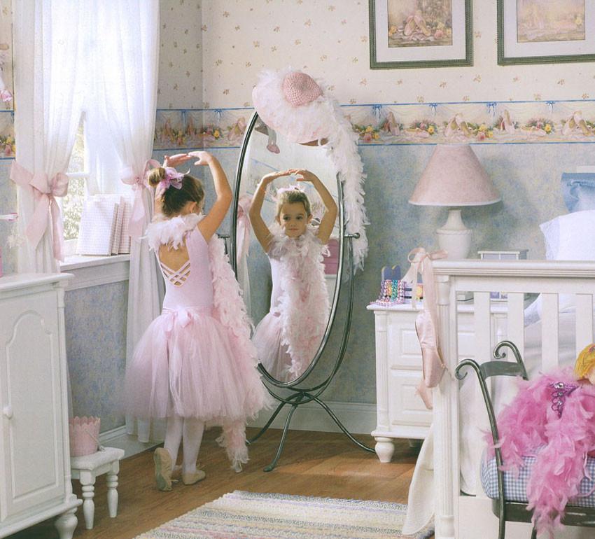 兒童房甜美公主房卡通百搭印花壁紙