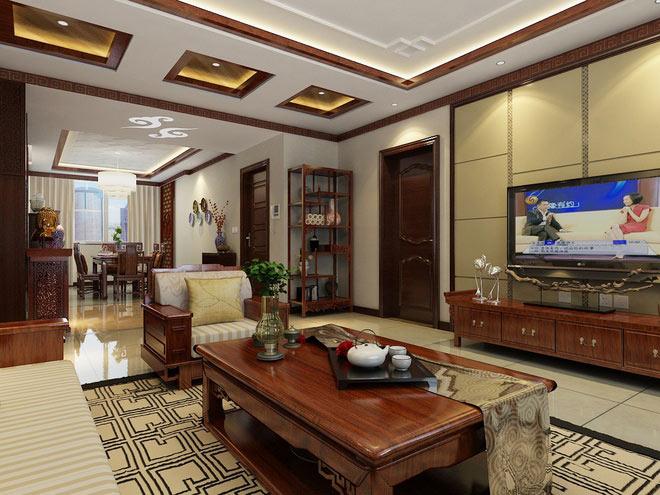 中式风格公寓古典130平米装修效果图