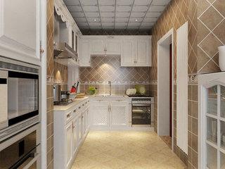 中式风格公寓古典130平米厨房装修图片
