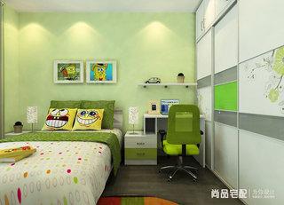清新绿色儿童房效果图