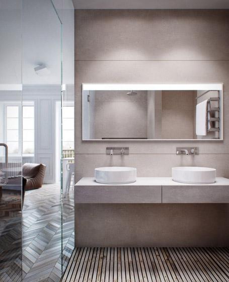 现代简约风格单身公寓艺术40平米装修效果图高清图片