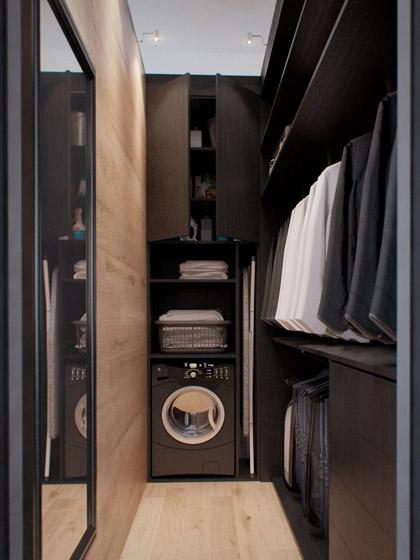 现代简约风格单身公寓艺术40平米衣帽间装修效果图
