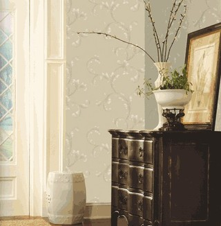 欧式清新典雅客厅卧室壁纸