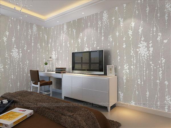 现代简约 电视背景墙卧室书房壁纸