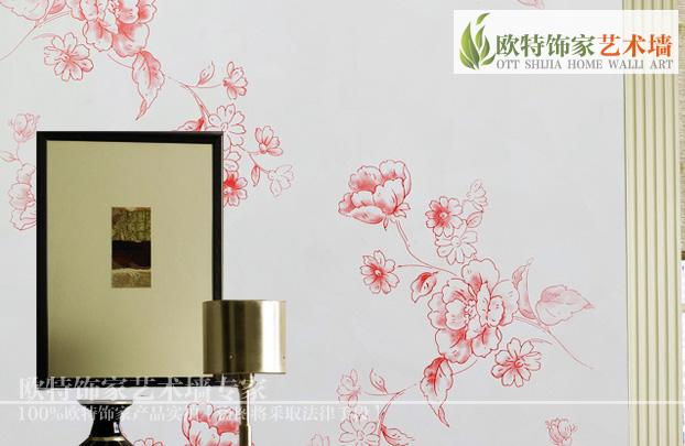 欧式花卉图案 客厅卧室壁纸