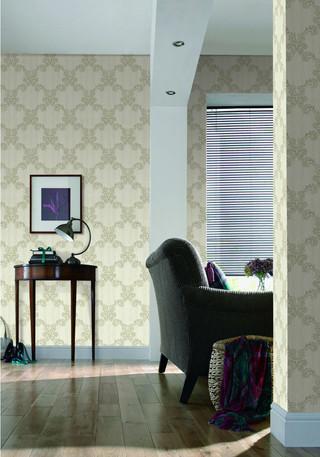 欧式炫彩大马士革 客厅卧室壁纸