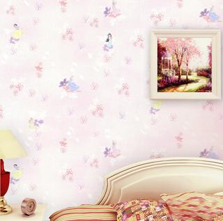 迪士尼公主卡通图案 儿童房卧室壁纸