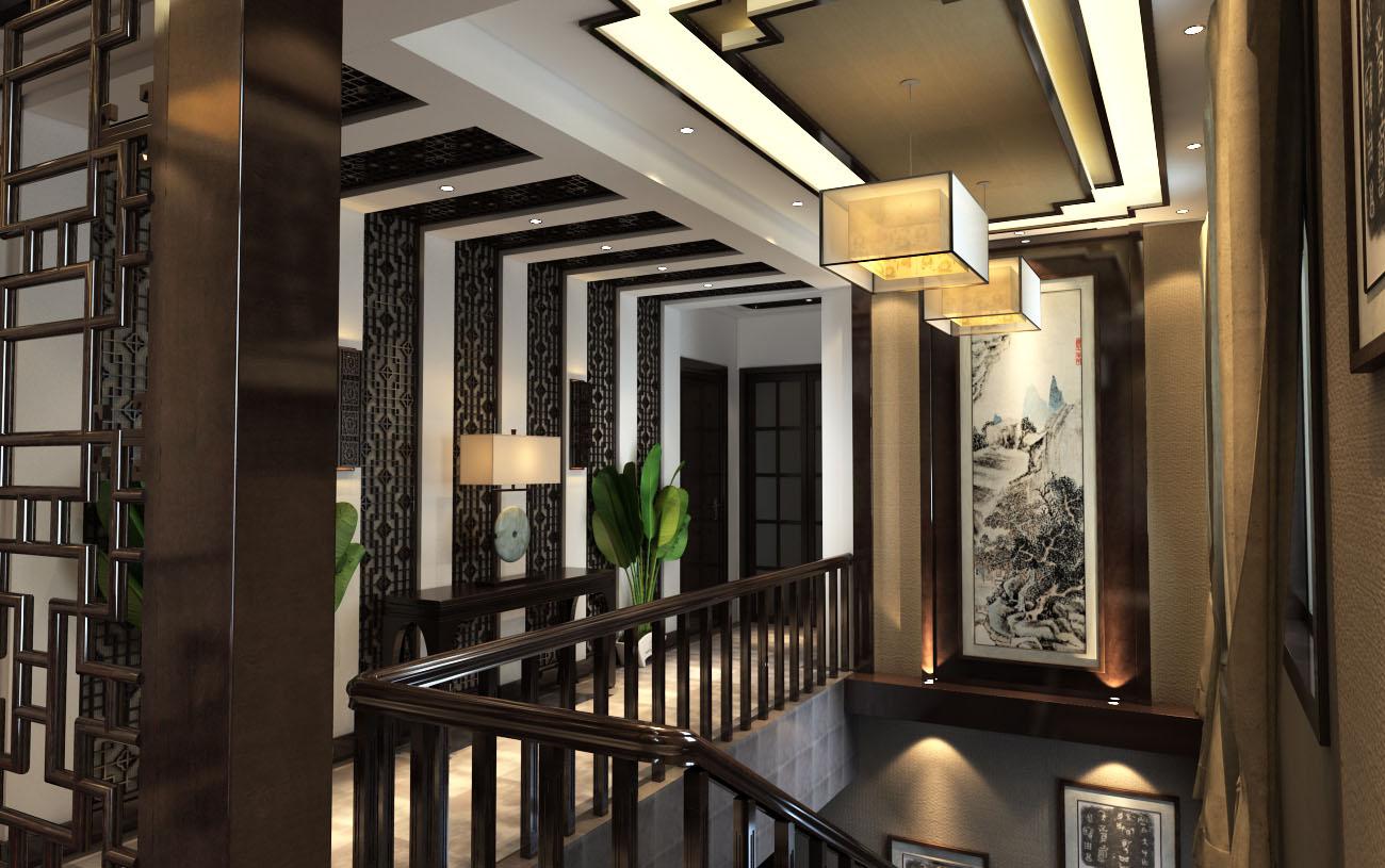 新中式风格装修效果图,室内设计效果图-齐家装修网图片