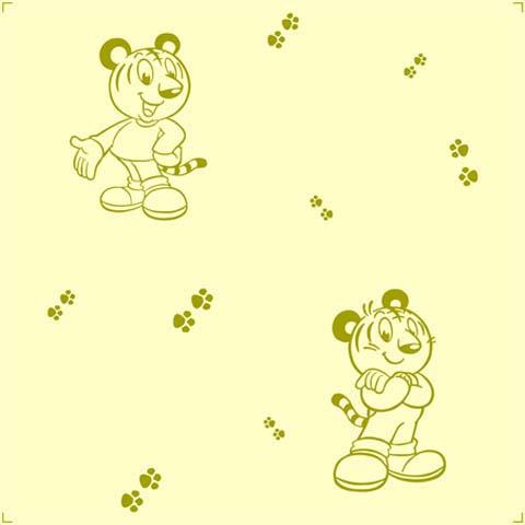 可愛素雅卡通印花 兒童房背景墻壁紙