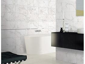 瓷砖地板  卡拉卡特白瓷砖地板