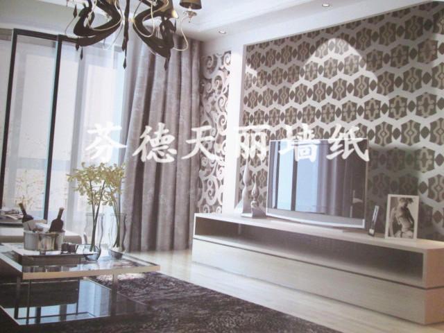 現代簡約個性客廳臥室背景墻壁紙