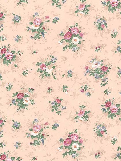 欧风田园小花 客厅卧室壁纸