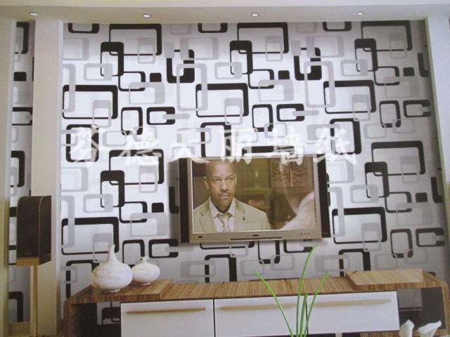 现代简约方块形墙纸 客厅电视沙发背景墙壁纸