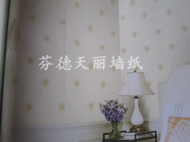 无纺布温馨田园风格墙纸 卧室背景墙壁纸