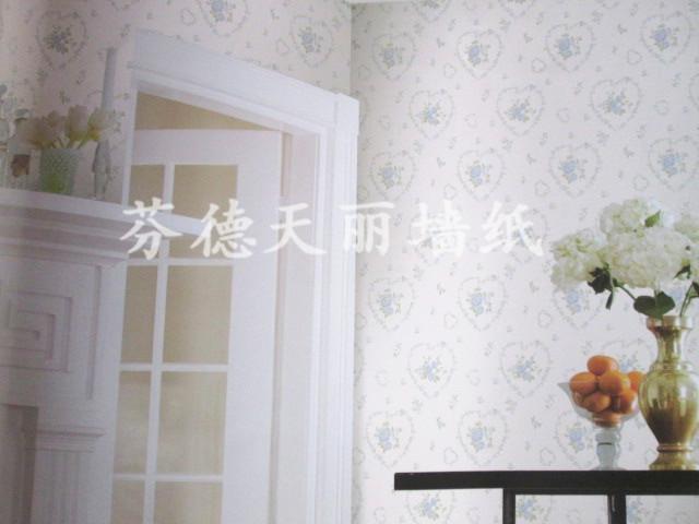 温馨小碎花心形墙纸 卧室客厅背景墙壁纸