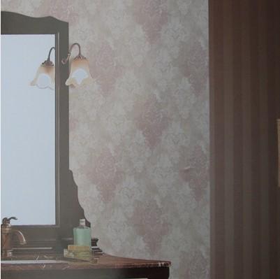 无纺简欧AB版搭配 卧室客厅背景墙壁纸