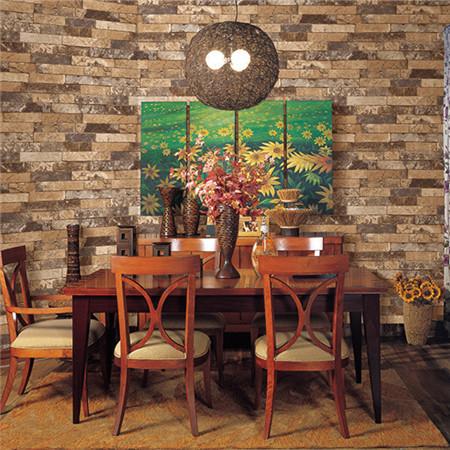中式逼真仿磚墻紙 客廳書房臥室壁紙