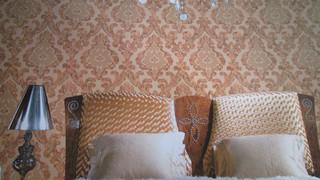 深压纹欧式大花 客厅卧室壁纸