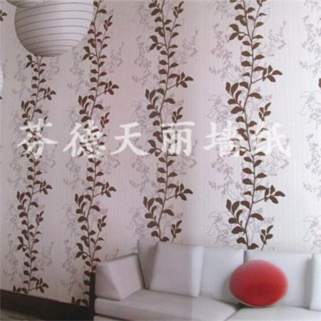 树藤条形款式墙纸 个性时尚卧室客厅壁纸