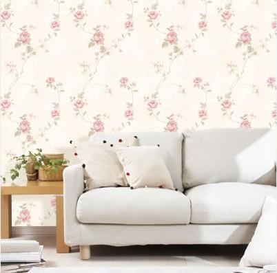 花语传情田园风格墙纸 客厅卧室壁纸