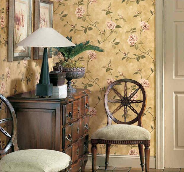 美丽花园温馨墙纸 客厅卧室壁纸