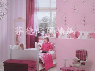 卡通上下墙腰线搭配 儿童房卧室壁纸