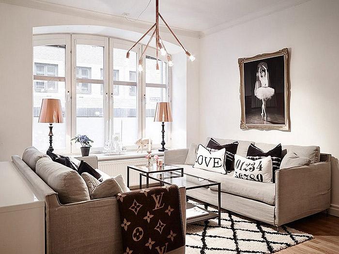 北欧风格公寓客厅效果图