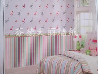 可爱卡通图案 儿童房卧室壁纸