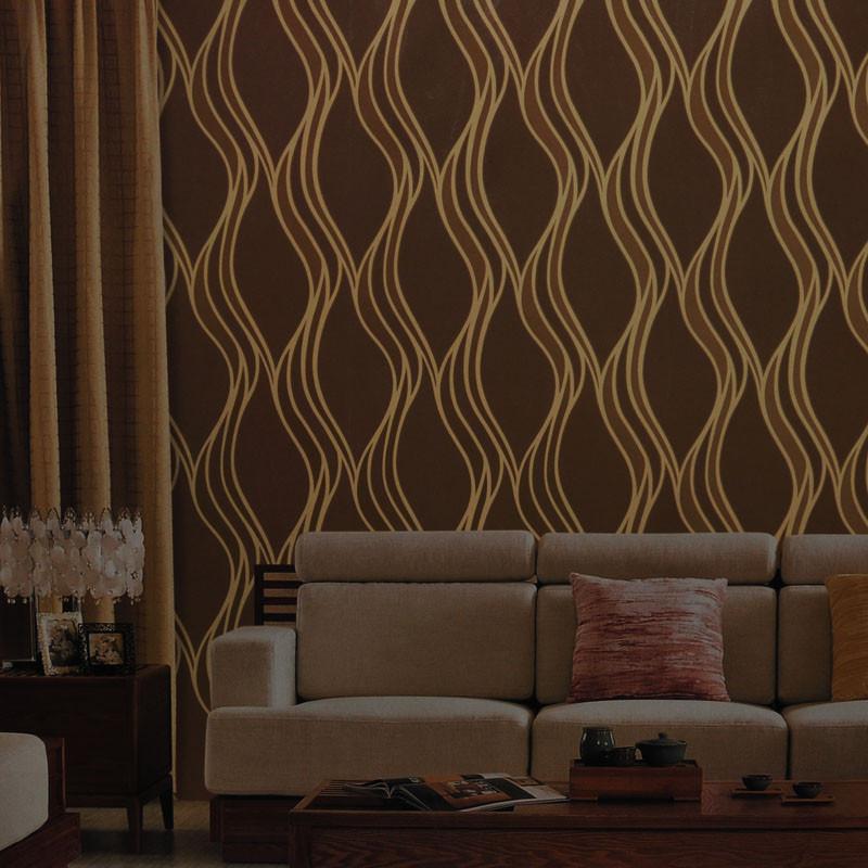 简约现代中式 客厅卧室背景墙壁纸图片